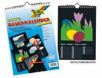 Dauerkalender DIN A4 Schwarz