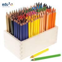 edu3 Jumbo dreiflächig | Holzaufsteller mit 180 Buntstiften