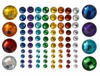 Schmucksteine Aufkleber Regenbogen 80-teilig