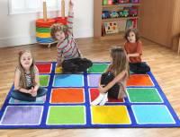 Regenbogenteppich Quadrat 200 x 200 cm