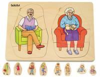 Lagenpuzzle Dein Körper - Opa und Oma