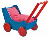 Haba Puppenwagen Buche Blau/Rot