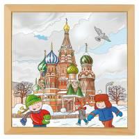Holzpuzzle Europäische Städte - Moskau | 40 x 40 cm