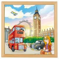 Holzpuzzle Europäische Städte - London | 40 x 40 cm