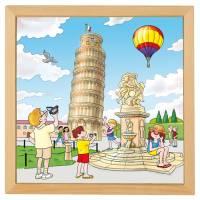 Holzpuzzle Europäische Städte - Pisa | 40 x 40 cm