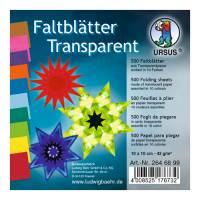 Transparentpapier Faltblätter 10 x 10 cm | 500 Blatt in 10 Farben