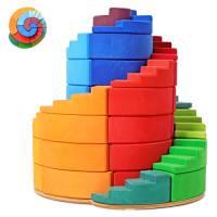 Grimm`s | Farbige Bausteine - Doppelläufige Stufenspirale