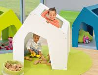 Spielhaus farbig mit Dachluke