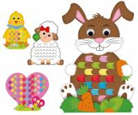 Flechtmotive Ostern | Bastelset mit 4 Figuren