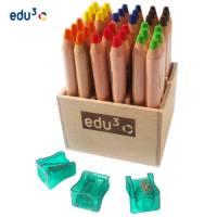 edu3 First | 36 Buntstifte im Holzaufsteller