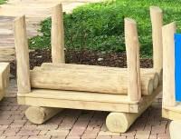 Eisenbahn Spielkombination U3 | Waggon mit Baumstämmen