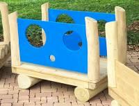 Eisenbahn Spielkombination U3 | Waggon mit Seitenwänden