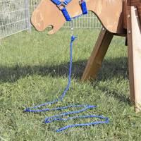 Holzpferd lasiert - Führstrick 2,5 m