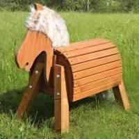 Holzpferd lasiert (Sitzhöhe 50 cm)