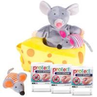 Protect Stempel 3er Set + Handpuppe Mila Maus und Freunde