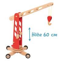 Baufahrzeuge mit Gummibereifung | Kran (Höhe 60 cm)