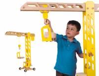 Baufahrzeuge mit Gummibereifung | Kran (Höhe 100 cm)
