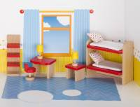 Puppenhaus-Möbelset basic | Kinderzimmer 11-teilig