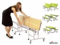 Tisch-Bank-Kombination mit 4-5 Sitzplätzen (Creative Colours)