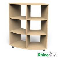 RhinoLine | Sechstelkreisschrank - Höhe 119,1 cm