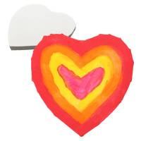 Leinwand Herz 20 x 20 cm