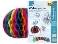 Wabenpapier Regenbogen - 5 Bogen