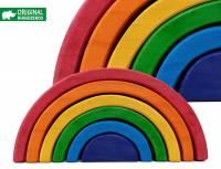 Bausteine Regenbogen 19 cm, 6-teilig | Kleiner Regenbogen Rhino