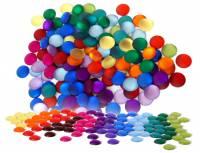 Bauspiel Farbkreis | Funkelsteine Rund Ø 2,2 cm - 120er Set