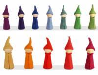 Bauspiel Farbkreis | Holzfiguren Gnome 12er Set
