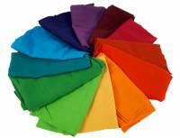Bauspiel Farbkreis | Spieltücher Farbkreis 80 x 80 cm - 12er Set
