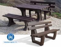 Sitzgarnitur Trier - Erwachsenenbank Trier mit Rückenlehne