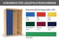 Liegepolsterschrank Vorhang | Schrankbreite bis 195 cm