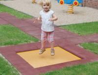 Bodentrampolin Kidstramp - Kindergarten (Quadratisch)