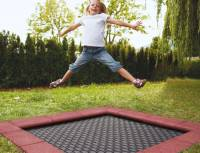 Bodentrampolin Kidstramp - Spielplatz (Quadratisch)