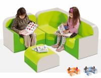 Sitzgarnitur Club - Sitzkombination Ecksessel 4er Set