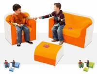 Sitzgarnitur Club - Sitzkombination Sofaecke 3er Set