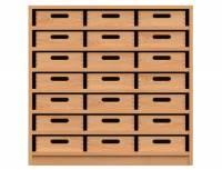 Materialschrank mit 21 Materialkästen