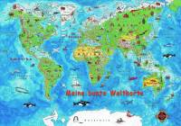 Weltkarte 125 x 85 cm - Meine bunte Weltkarte