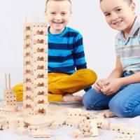 Bausteine - Holzsatz Buko Starterset groß   191 Teile