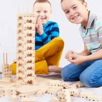 Bausteine - Holzsatz Buko Starterset   141 Teile