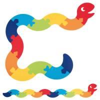 Filzpuzzle Riesenschlange | 12 Teile