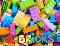 Q-BRICKS Kindergarten Set - Floral | 1000 Bausteine