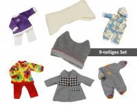 Puppenbekleidung - Herbst und Winter 9er Set | Größe 32